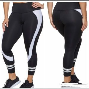Pants - HP🎉Plus size color block varsity striped leggings